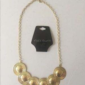 """What's New"" gold tone necklace, NWT"